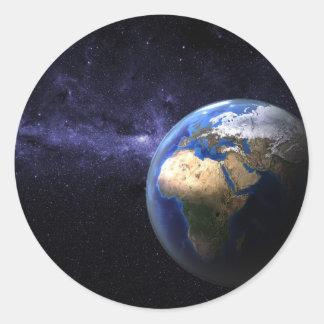 宇宙の地球 ラウンドシール
