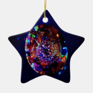 宇宙の大理石はクリスタル・ボールの宇宙に上がります セラミックオーナメント