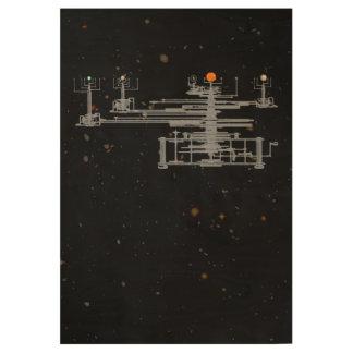 宇宙の太陽系のOrrery ウッドポスター