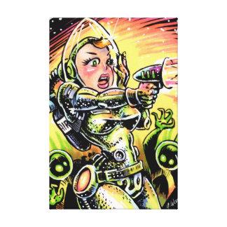 宇宙の女の子20のキャンバスプリントのプリント キャンバスプリント