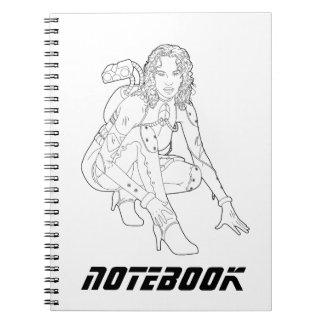 宇宙の女の子 ノートブック