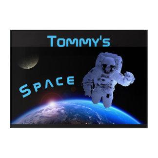 宇宙の宇宙飛行士の壁の芸術の名前 アクリルウォールアート