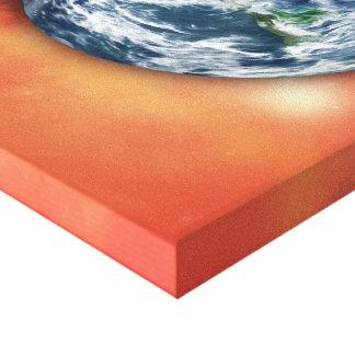 宇宙の惑星の地球 キャンバスプリント