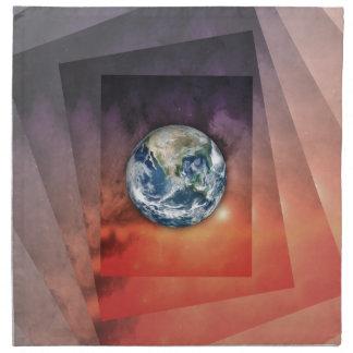 宇宙の惑星の地球 ナプキンクロス