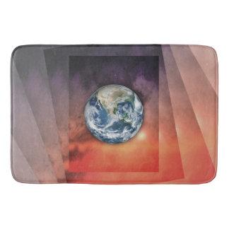 宇宙の惑星の地球 バスマット