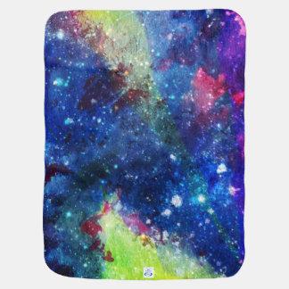 宇宙の旅行者の空間的な銀河系の絵画 ベビー ブランケット