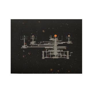 宇宙の旧式なOrrery ウッドポスター