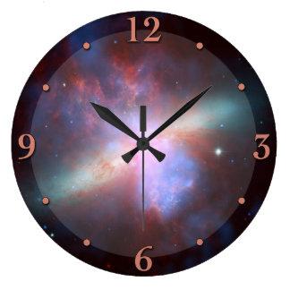 宇宙の星雲の天文学の時計 ラージ壁時計