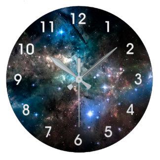 宇宙の星 ラージ壁時計