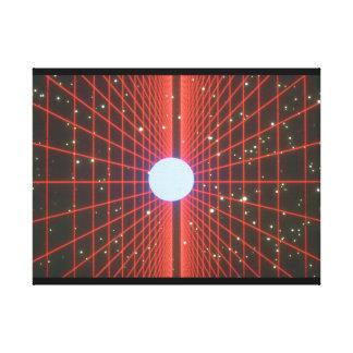 宇宙の格子。 (宇宙; grids_Space場面 キャンバスプリント