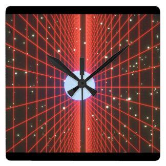 宇宙の格子。 (宇宙; grids_Space場面 スクエア壁時計