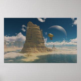 宇宙の気球の乗車 ポスター