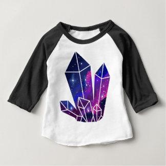 宇宙の水晶集りのTシャツ ベビーTシャツ