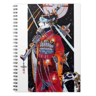 宇宙の海洋の着物のジャガーのノート! ノートブック