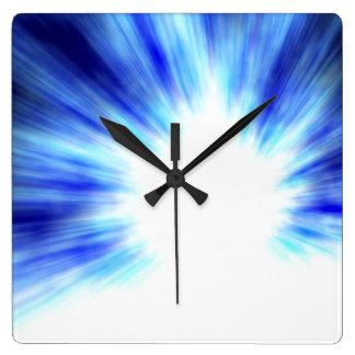 宇宙の渦の時計 スクエア壁時計