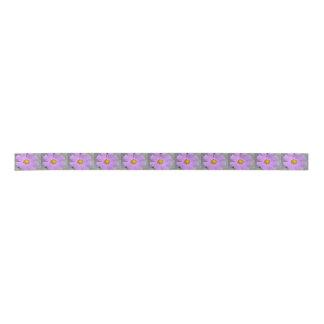 宇宙の紫色の花 サテンリボン