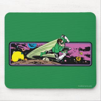 宇宙の緑のランタン マウスパッド