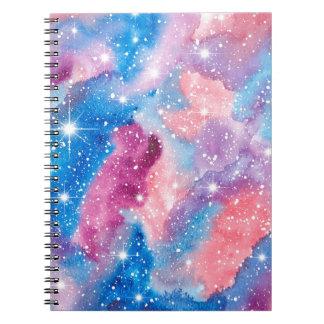 宇宙の芸術の水彩画の銀河系 ノートブック