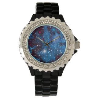 宇宙の芸術の水彩画の銀河系 腕時計
