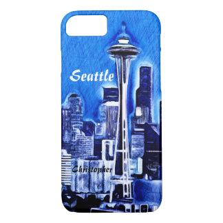 宇宙の針-シアトル、ワシントン州 iPhone 7ケース