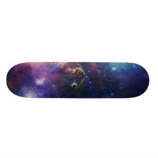宇宙の銀河系のスケートボード スケートボード