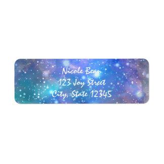 宇宙の銀河系のパーティの招待状カード宛名ラベル ラベル