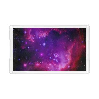 宇宙の銀河系/星雲の紫色の色合いは主演します アクリルトレー
