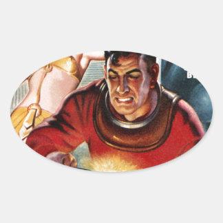 宇宙の電気技師 楕円形シール