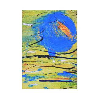 宇宙の青い球 キャンバスプリント