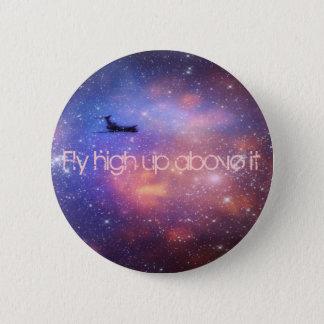 宇宙の飛行機ボタン 5.7CM 丸型バッジ