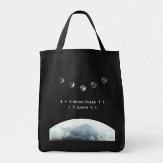 宇宙の5つの月段階の地球 トートバッグ