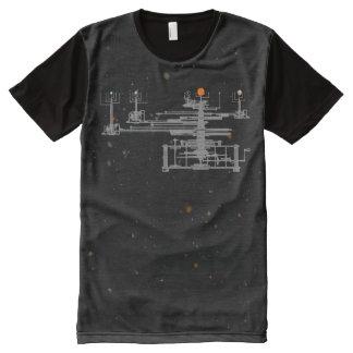 宇宙のOrreryの太陽系 オールオーバープリントシャツ