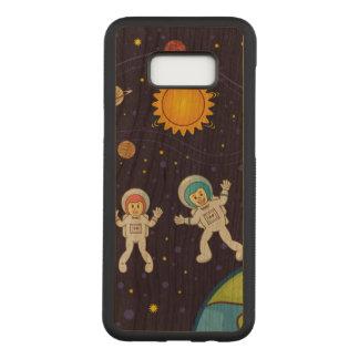 宇宙のSamsungの銀河系S8+ 細いさくらんぼ木箱 Carved Samsung Galaxy S8+ ケース
