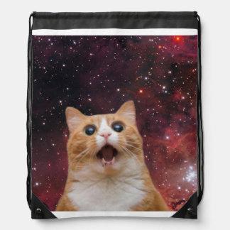 宇宙のscaredy猫 ナップサック