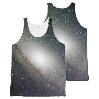 宇宙のTシャツ オールオーバープリントタンクトップ