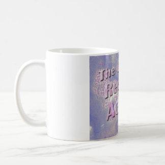 宇宙は行為-ピンクのマグ--に報酬を与えます コーヒーマグカップ