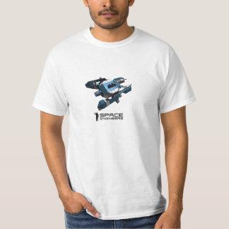 宇宙はTシャツ-青い小舟--を設計します Tシャツ
