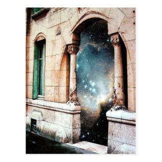 宇宙への入口は宇宙の建物のゲートを主演します ポストカード