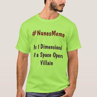 宇宙オペラ別荘として次元1として#NunesMemo Tシャツ