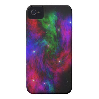 宇宙キャンバスのブラックベリーの箱 Case-Mate iPhone 4 ケース