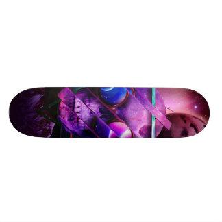 宇宙スカルの銀河系 18.7CM ミニスケートボードデッキ