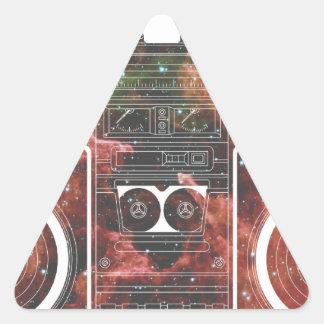 宇宙ステレオ 三角形シール