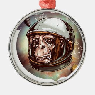 宇宙チンパンジー メタルオーナメント
