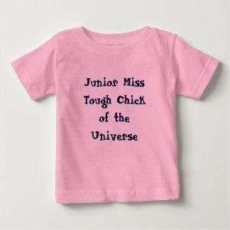 宇宙ベビーのティーの後輩の失敗の堅いひよこ ベビーTシャツ