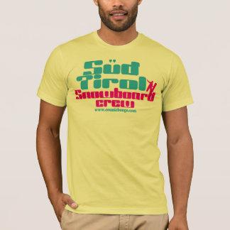 宇宙ボンゴの石鹸水のTirolのスノーボードのTシャツ Tシャツ