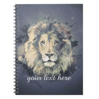 宇宙ライオン王|のカスタムなノート(80ページB&W) ノートブック