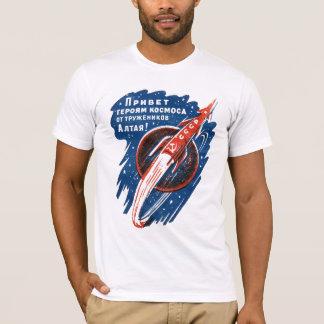 宇宙ロケットのソビエトTシャツのCCCPのロゴ Tシャツ