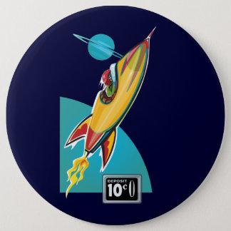 宇宙ロケットの乗車 15.2CM 丸型バッジ