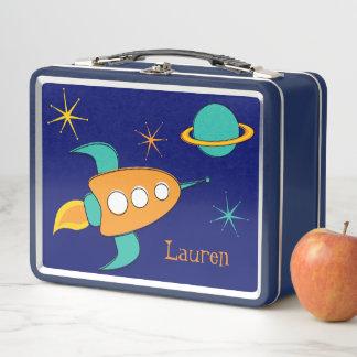 宇宙ロケットの船のお弁当箱のエース メタルランチボックス
