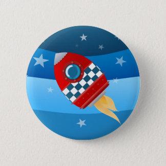 宇宙ロケット-ボタンのバッジ 5.7CM 丸型バッジ